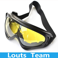 Hot New CS UV400 Snowmobile Bike Bicycle Windproof Sunglasses Men's Cycling glasses otorcycle Ski Protective Glasses Yellow uv400 sunglasses glasses strap glasses -