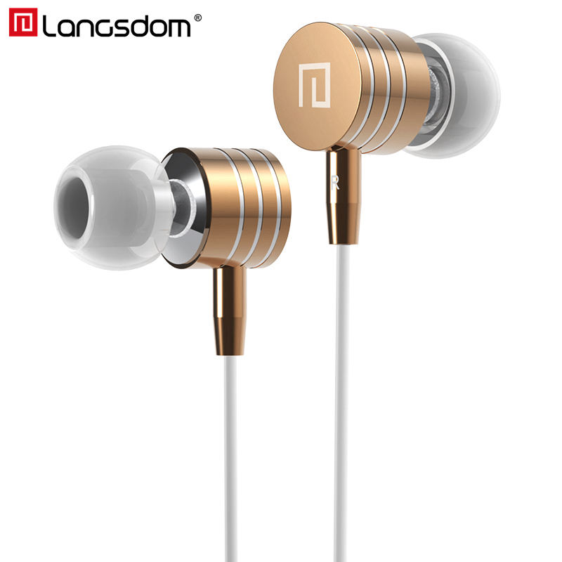 Langsdom Metal Earphone Bass Stereo In Ear Earphone Earbuds with Mic Headsets for phone Xiaomi fone de ouvido Clearance Sale kst x2 in ear stereo earphone with metal earbuds