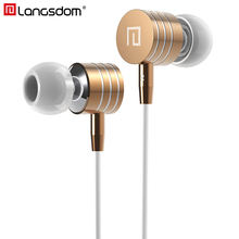 Langsdom Metal Earphone Bass Stereo In Ear Earphone Earbuds with Mic Headsets for phone Xiaomi fone de ouvido Clearance Sale