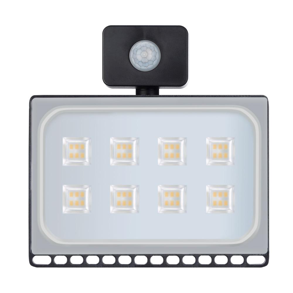 1PCS Ultrathin Led Motion Sensor Flood Light 50W 110V 220V Waterproof IP65 4000LM Led Floodlight Spotlight Outdoor Lighting 1pcs lot sh b17 50w 220v to 110v 110v to 220v