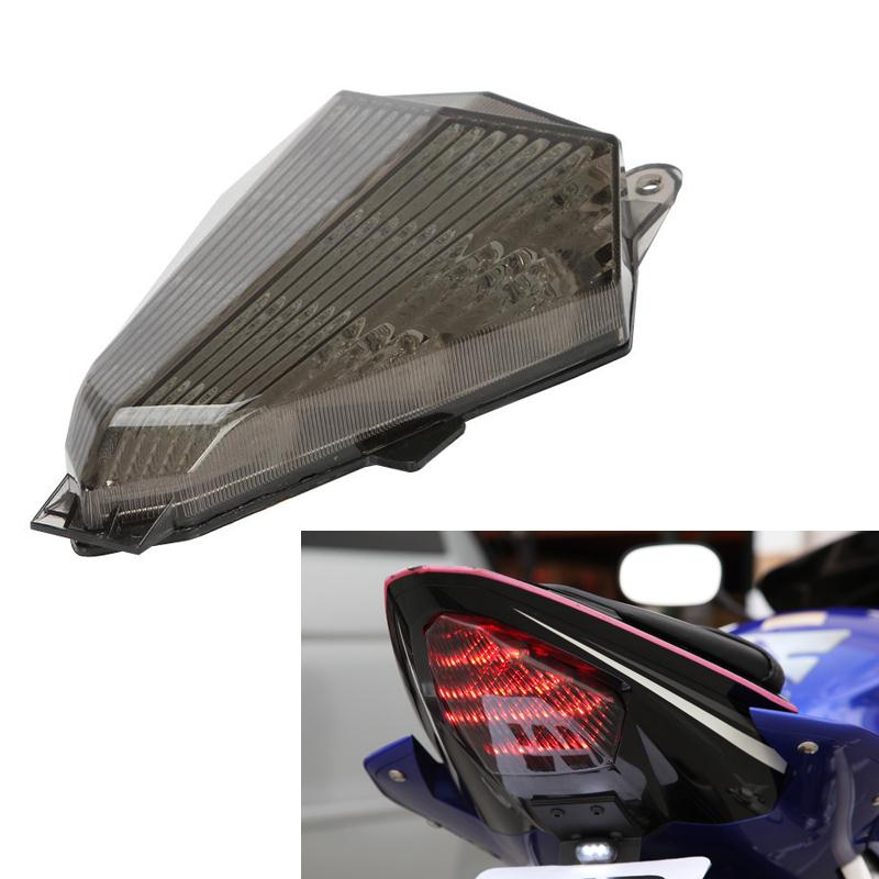 Motorcycle Bike Tail Brake Light Turn Signal Running Light Smoke Rear Lamp for Yamaha YZF R6 2006 2007 2008 2009 2010 2011 car styling tail lights for toyota highlander 2015 led tail lamp rear trunk lamp cover drl signal brake reverse