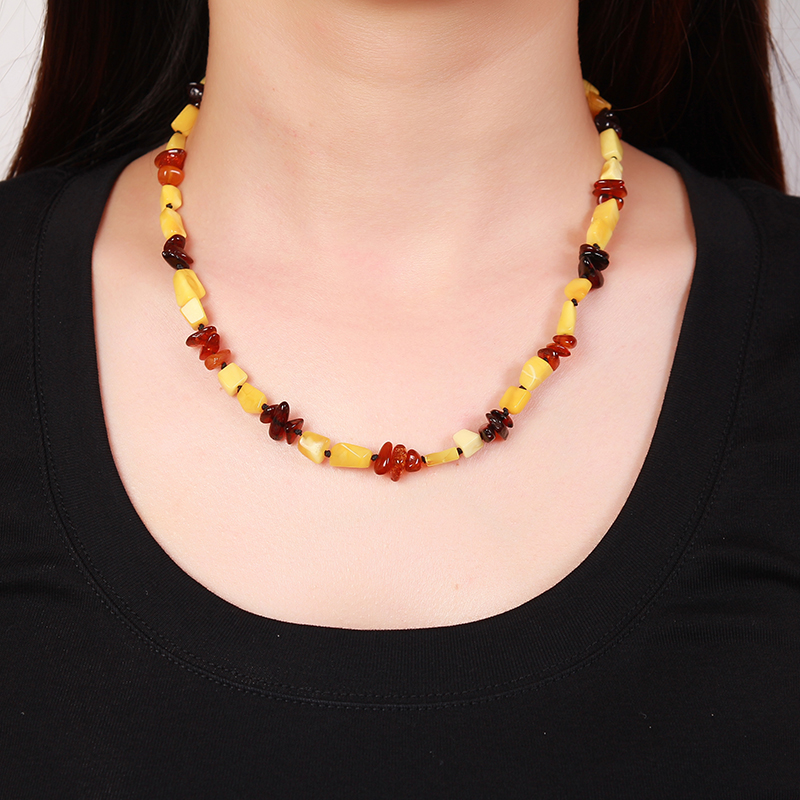 Pure natural amber chicken oil yellow water drops beeswax chain chain necklace women sweater chain with certificate multicolor natural beeswax carp pendant chicken oil yellow old honey carving pendant necklace men and women sweater chain amber jewelry