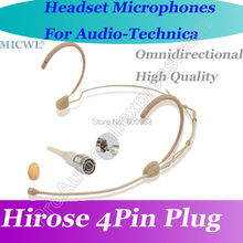 MICWL T60 Omni Directivity Comfortable Headset Microphone for Audio-Technica Wireless Hirose 4Pin connector
