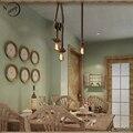 Cuerda de la vendimia Luces pendientes Lámpara Loft personalidad creativa de la lámpara de Edison Industrial Bombilla American Style Para la decoración de la sala