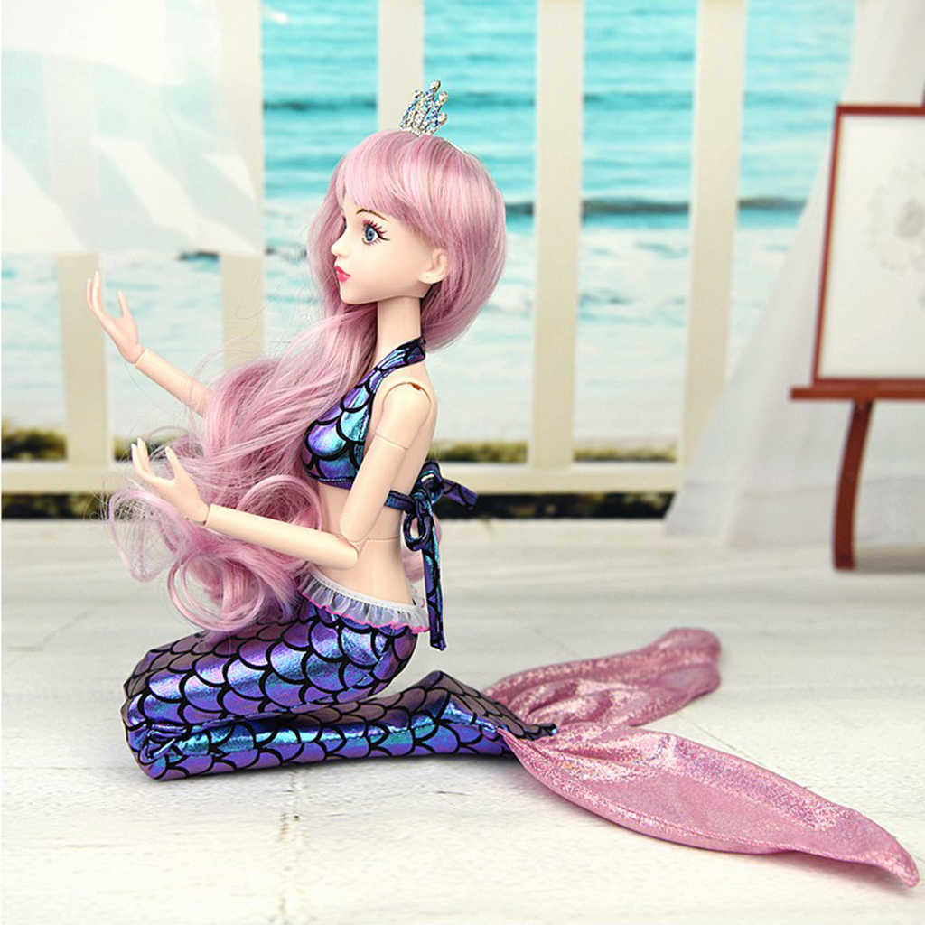 Handmade 1/4 Doll Mermaid Princess Tail Costume Doll Swimwear Dress for BJD Clothing Cosplay Clothing Bathing Suit
