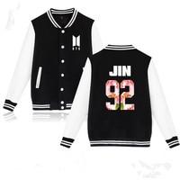 BTS Kpop Baseball Jacket Winter Hoodies Men Popular Bangtan Harajuku Hoodies Women Casual Fashion Female Baseball