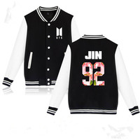 BTS Kpop Baseball Jacket Winter Hoodies Men Popular Bangtan Harajuku Hoodies Women Casual Fashion Female Baseball