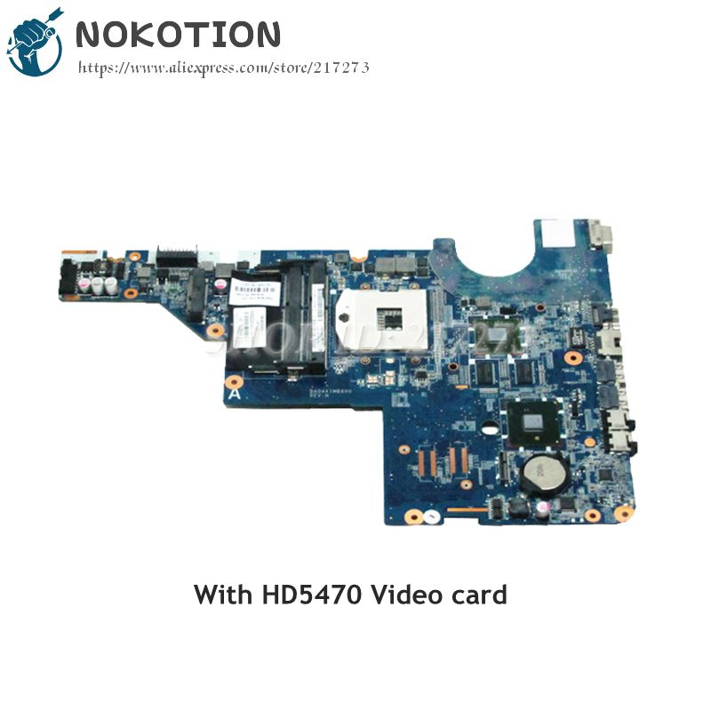 NOKOTION 615578-001 595183-001 DA0AX1MB6H0 For HP Pavilion CQ42 G62 Laptop Motherboard HM55 DDR3 HD5470 Video card laptop motherboard 605903 001 fit for hp g62 cq62 notebook pc mainboard ddr3