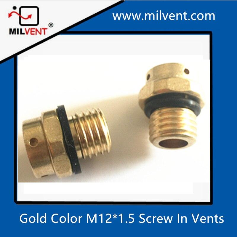 Cuivre M12 * 1.5 vis de purge bouchon à évent air vent étanche et immersion valve ventilation presse-étoupe