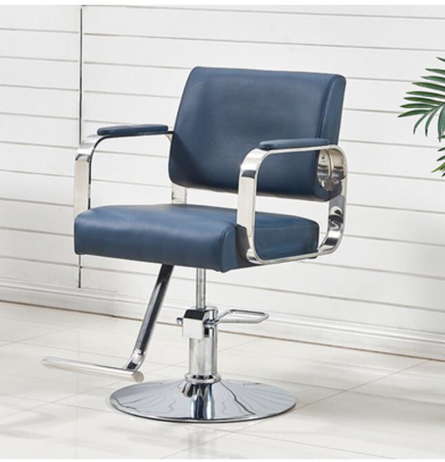 New Hairdressing Chair Hair Salon Special Barber Shop Hair Salon Haircut Chair Stainless Steel Armrest Barber Chair Can Be Raise