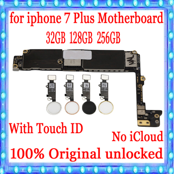 For iPhone 7 Pluus 5.5 inch Motherboard Unlock Mainboard With Touch ID/Without Touch ID Full Function 100% Original Logic Board