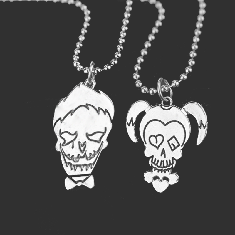 Suicide Squad Necklace Beaded Chain Cute Boy And Girl Necklaces & Pendants For Women Men Jewelrly