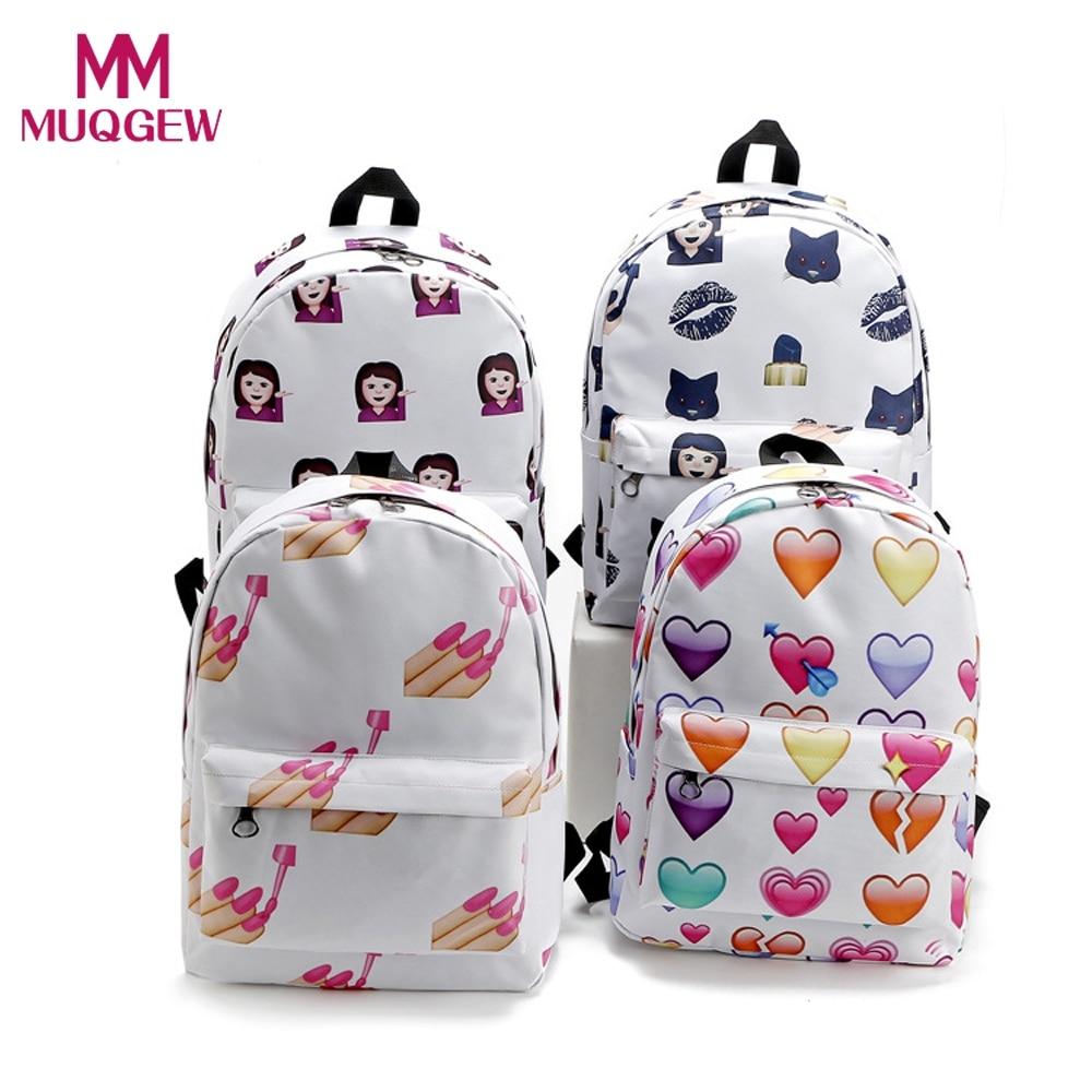 2018 Vendita Calda Donne Zaino Da Viaggio Emoji Spalla School Book Bag Zaino borsa studente zaino scuola bambino