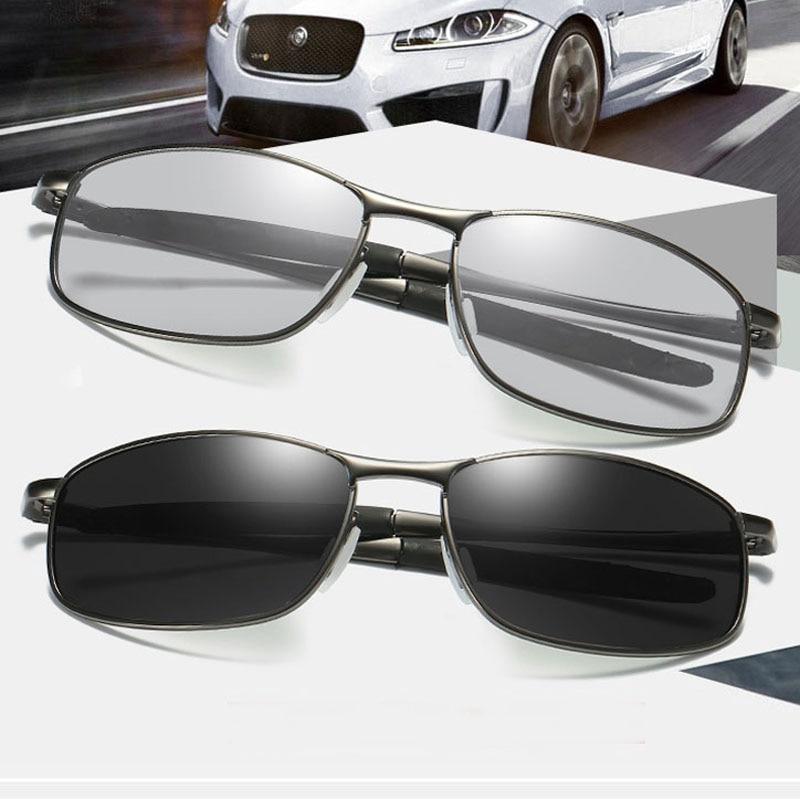 RoShari HD Men's Photochromic Polarized Sunglasses Chameleon Sun Glasses men Day Night Driving Anti-glare Eyewear gafas de sol