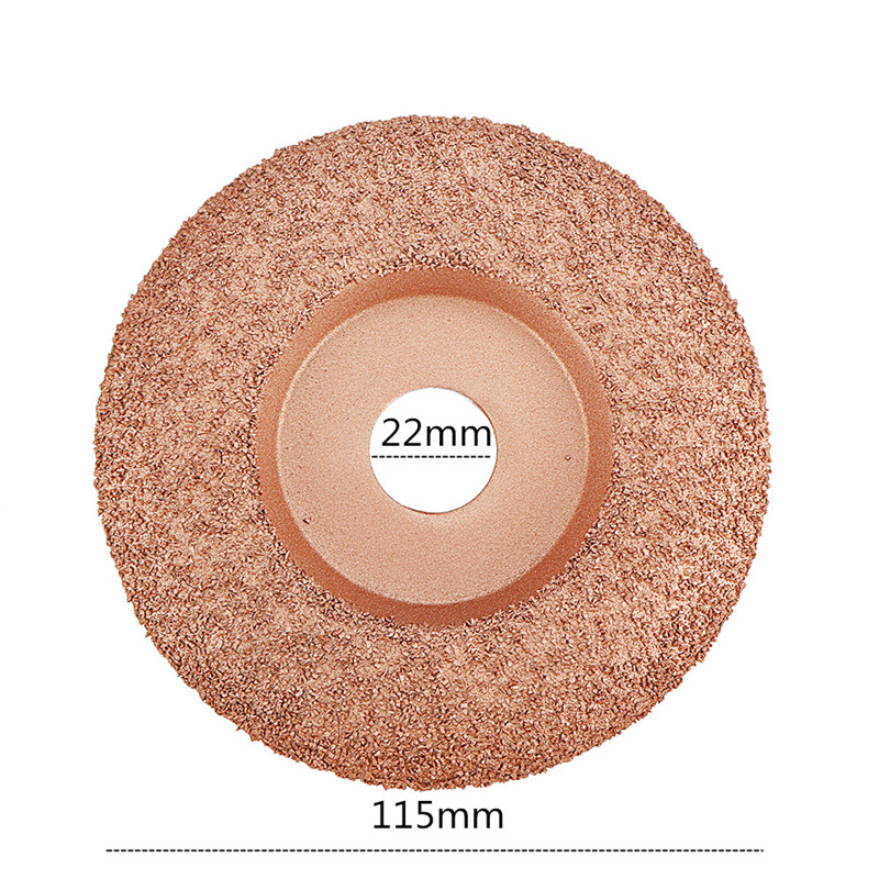 New 4-1/2 Inch Tungsten Carbide Coating Wood Carving Disc Shaping Disc For Angle Grinder