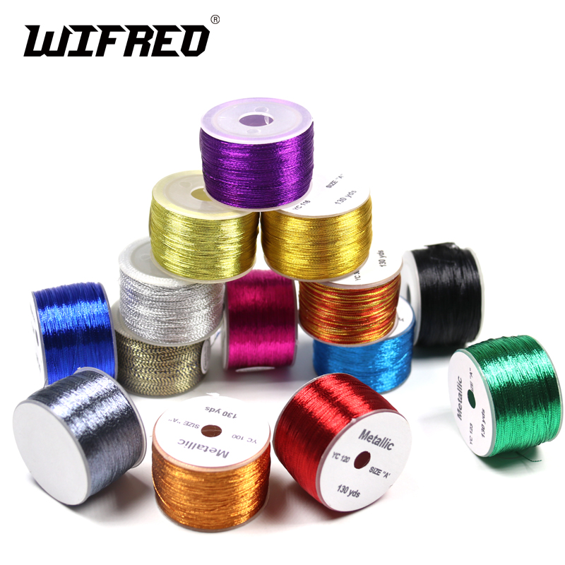 100 jardów / szpulka Metallic Guide Wrapping Fishing Line thread Silne włókna nylonowe Rozmiar A Rod Building Repairing DIY Wędka