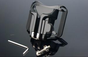 """Image 2 - חדש 1/4 """"בורג מצלמה שחרור מהירה נרתיק מותן אבזם חגורת לחץ הר קליפ מחזיק קולב רצועה לdslr Canon Nikon Sony"""