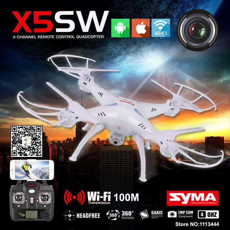 Syma X5SW Quadrocopter Drone With Camera HD FPV Dron Skimmer Rc Helicopter WIFI Quadcopter Remote Control