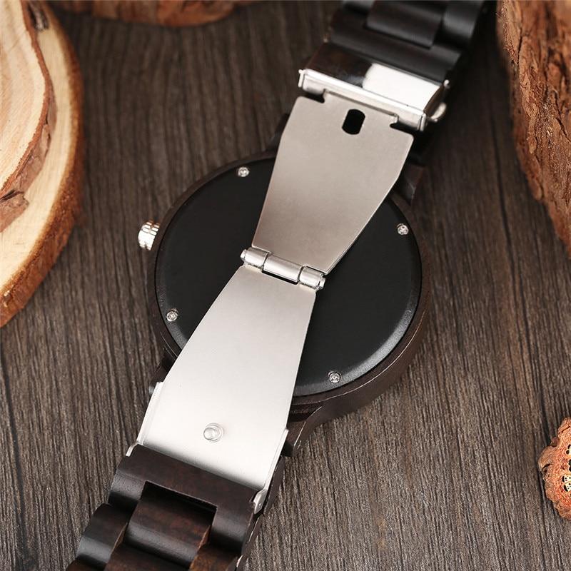 YISUYA Classic Luxury Black Ebony Analog Quartz Wristwatch Men - Տղամարդկանց ժամացույցներ - Լուսանկար 4