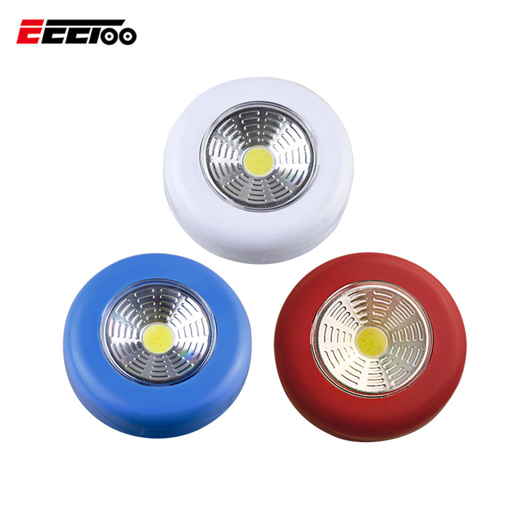 3w Led Car Light Linear Cabinet Under Cabinet Touch On Off: Aliexpress.com : Buy Battery Powered COB Round LED Touch