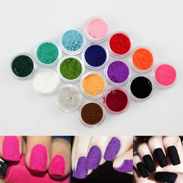 Online Shop New 16 Colors Fashion Tips Nail Decoration Fuzzy