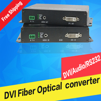 DVI to fiber optical transmitter and receiver USB mouse keyboard Extender DVI over fiber Single Mode  1080P KVM non-compressed
