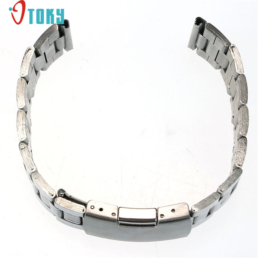 OTOKY Hot Unique Stainless Steel Watch Band Strap Straight Bracelet watch strap relogio masculino watchbands 22mm Drop ship F12 sunward hot unique watchbands mens black silicone rubber diver watch band strap drop ship f20