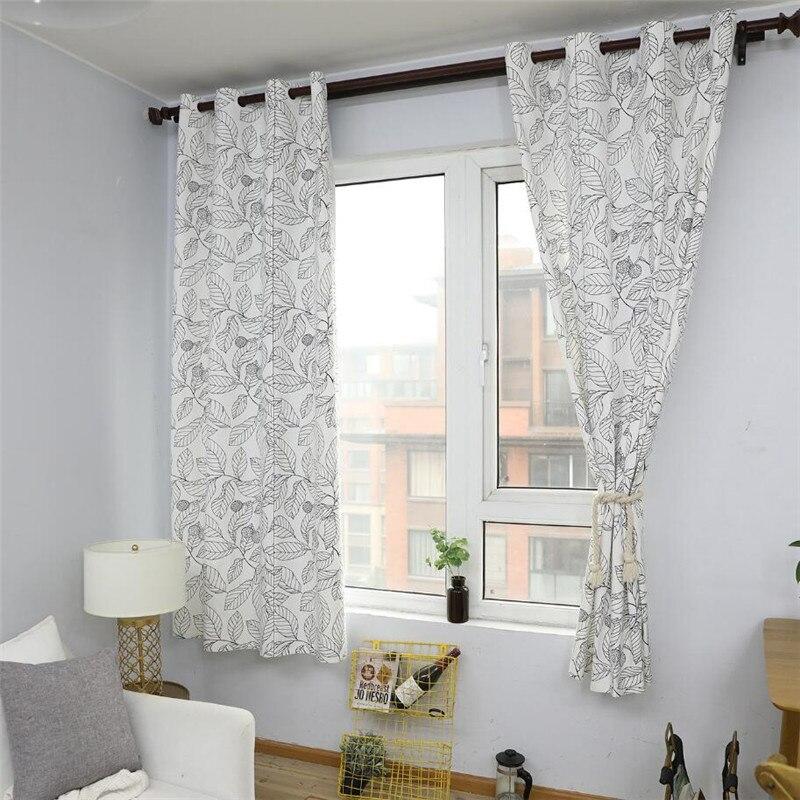 Past Nordic Style Linen Cotton Blackout Curtains For Living