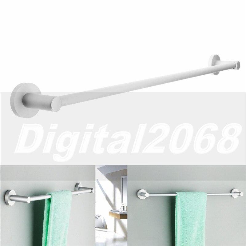 High Quality Silver Towel Holder Aluminium Bathroom Towel Rack Rail Hanger Bar 23.6'' Wall Mounted 60*5*7CM Free Shipping free shipping polished chrome bathroom towel rack holder wall mounted swivel towel bar hanger