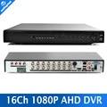 16 Canales DVR AHD 1080 P AHD DVR 16CH AHD-H 1920*1080 MP Grabador de Vídeo CCTV DVR NVR HVR 3 En 1 Sistema de Seguridad