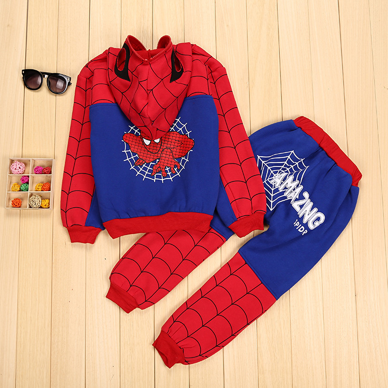 Children Clothing Autumn Winter Toddler Boys Clothes Sets Spiderman Costume Kids Clothes For Boys Clothing Suit 3 4 5 6 7 Year 34