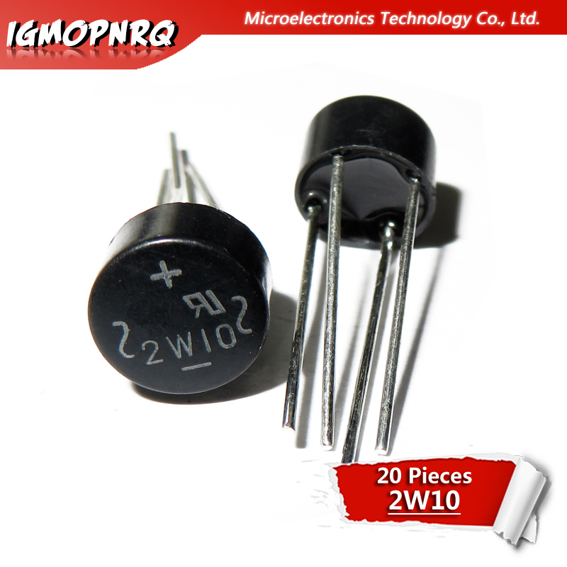 5x 2W10 Bridge rectifier Pont de diode Gleichrichter 2A 1000V