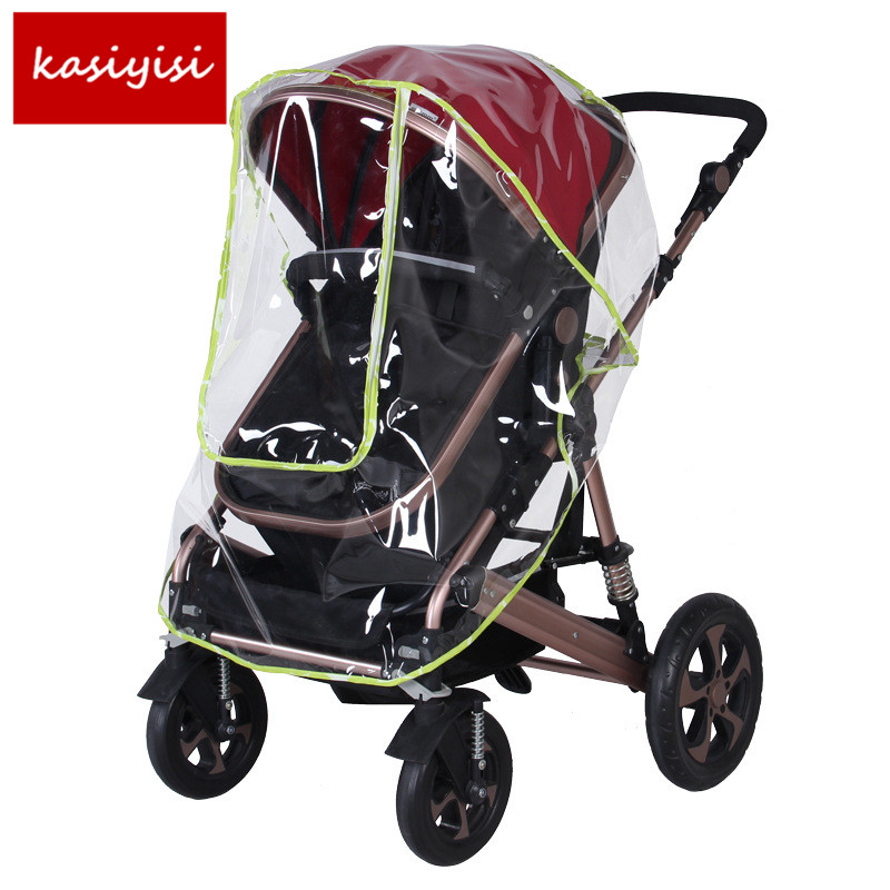 Special Dustproof Raincoat Big Cart High Landscape Special Rain Cover Pushchairs Accessories Windproof Baby Stroller Rain Cover