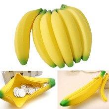 Coin Purse Pencil Case Portable Novelty Cute Banana Silicone Pen Bag Wallet Pouch