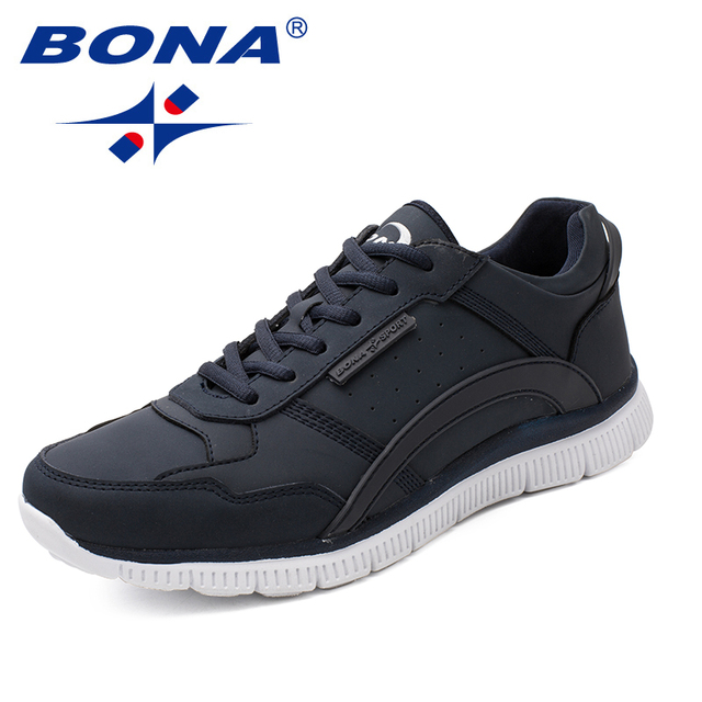 Nueva llegada de BONA zapatos de caminar de estilo clásico para Hombre Zapatos deportivos de encaje para hombre zapatillas de correr al aire libre cómodas envío gratis