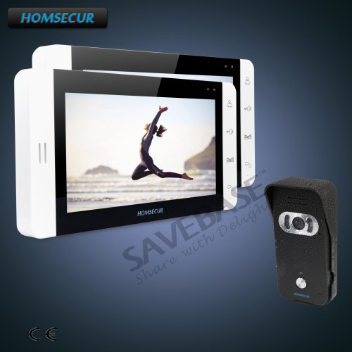 """HOMSECUR 7"""" Wired Hands-free Video Door Phone Intercom System+Black Camera+Shipping from RU Warehouse"""