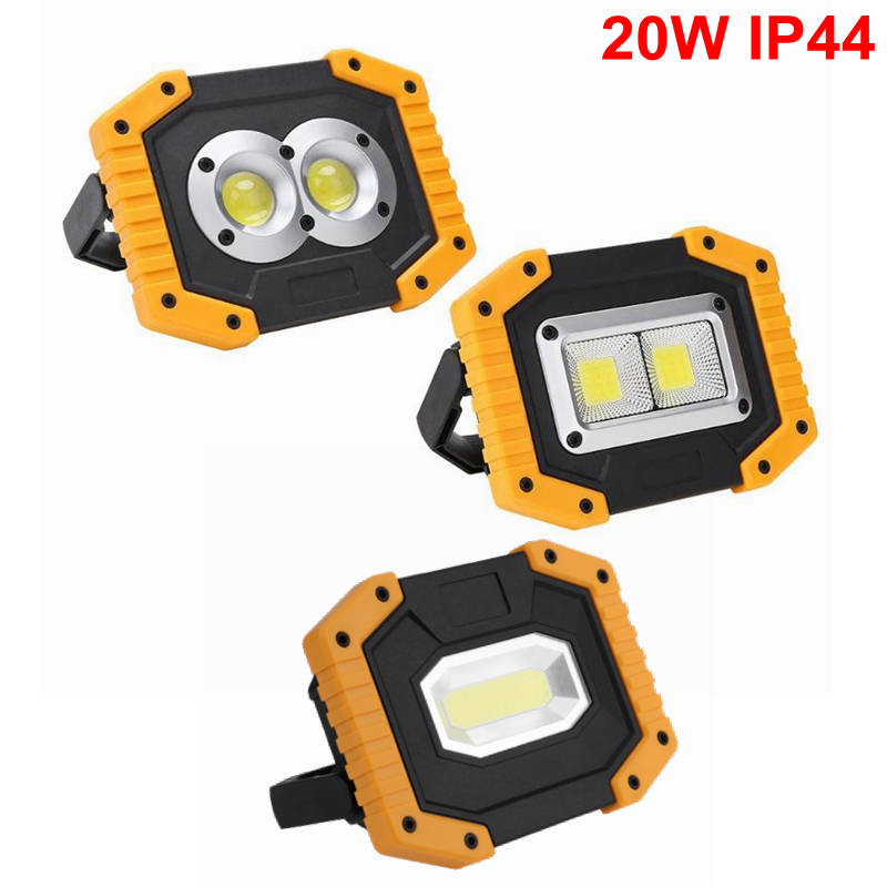 Portable COB LED Work Light Waterproof Outdoor USB Rechargeable Lamp Searchlight Vehicle Maintenance Emergency Camping Lamp cob 20w rechargeable led headlamp led lamp outdoor camping flashlight with usb portable warning light emergency work light 18650