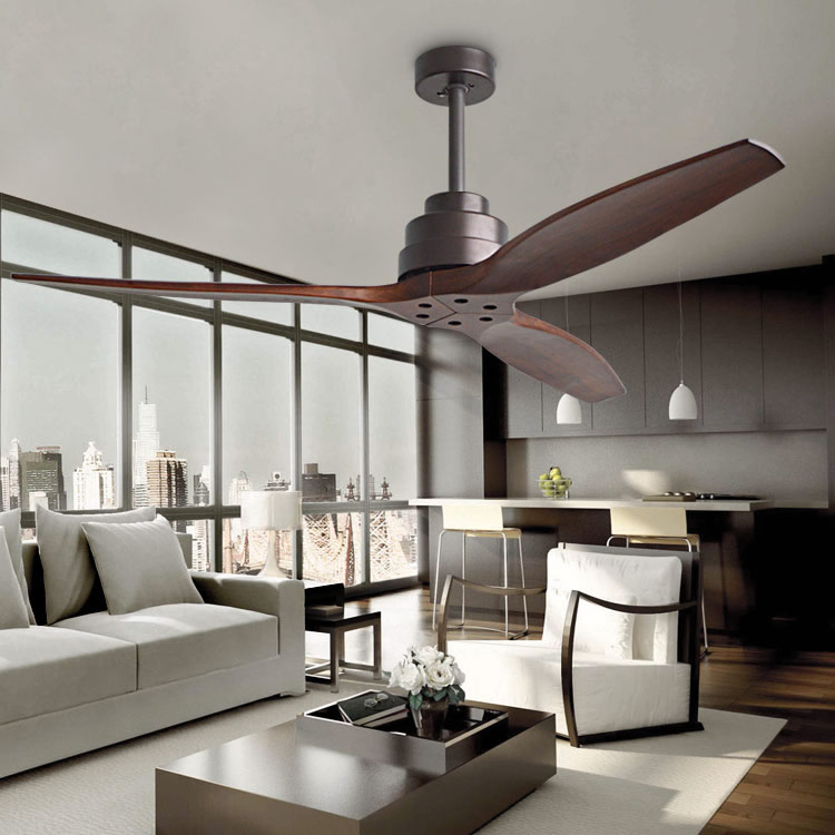 Industrial wind retro ceiling fan with light remote - Bedroom ceiling fans with remote control ...