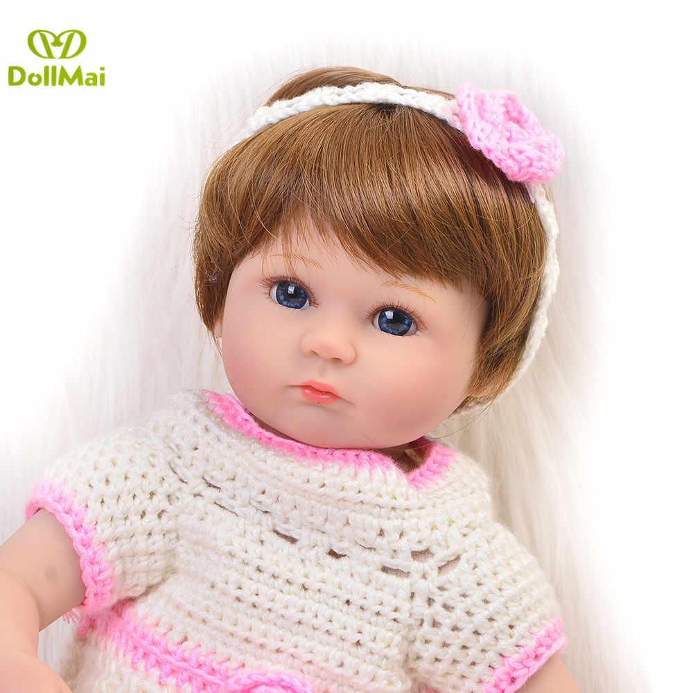 Bebes Reborn куклы de силиконовые для девочек 43 см винил новорожденных игрушечные пупсы, куклы ребенка bebe s rebon menina подарок игрушка куклы