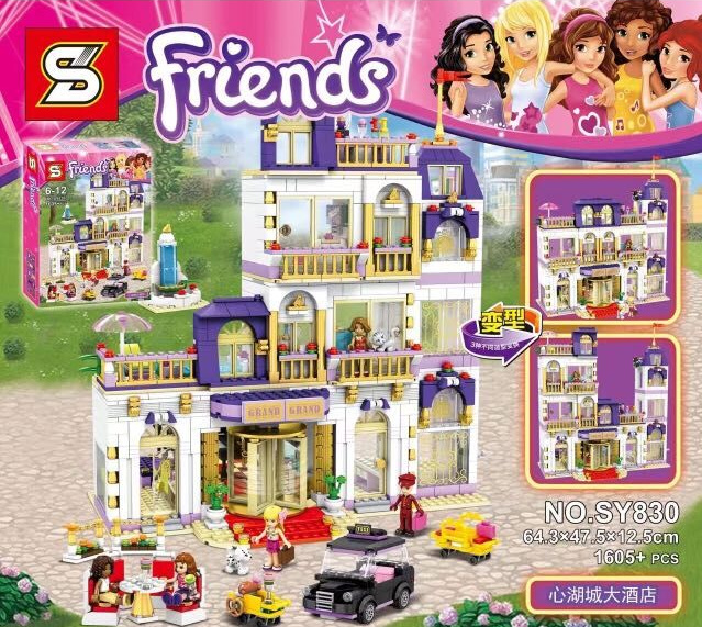 BELA 10547 01014 Girls Friends Heartlake Grand Hotel Figures Building Blocks Kid Model DIY Bricks Toys gift Compatible Lepin lepin 02012 city deepwater exploration vessel 60095 building blocks policeman toys children compatible with lego gift kid sets