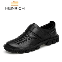 HEINRICH Luxury Designer Fashion Soft Moccasins Men Loafers High Quality Genuine Leather Shoes Men Flats Sapato Masculino