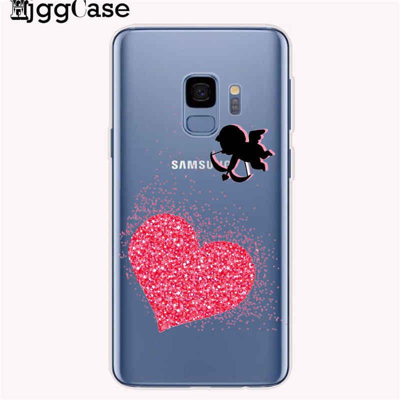Minnie coruja dos desenhos animados gato caso de telefone para samsung galaxy s8 s9 s10 plus s10e s7 borda j5 j7 j6 a6 a8 mais a5 2017 a9 a7 2018 casos