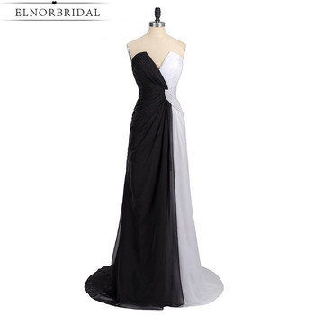 Black And White Evening Dresses Long 2020 Sexy Robe De Soiree Formal Celebrity Party Dress Imported Prom Gowns Free Shipping