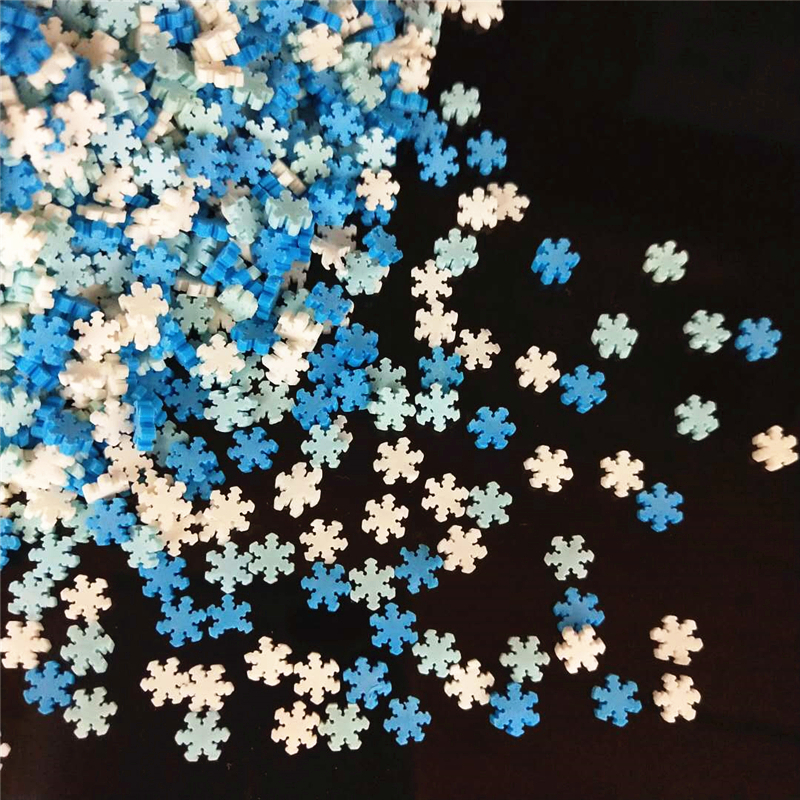 20g/lot Snowflake Polymer Hot Soft Clay Sprinkles Colorful For Crafts Plastic Klei Tiny Cute Mud Particles Blue White Snow