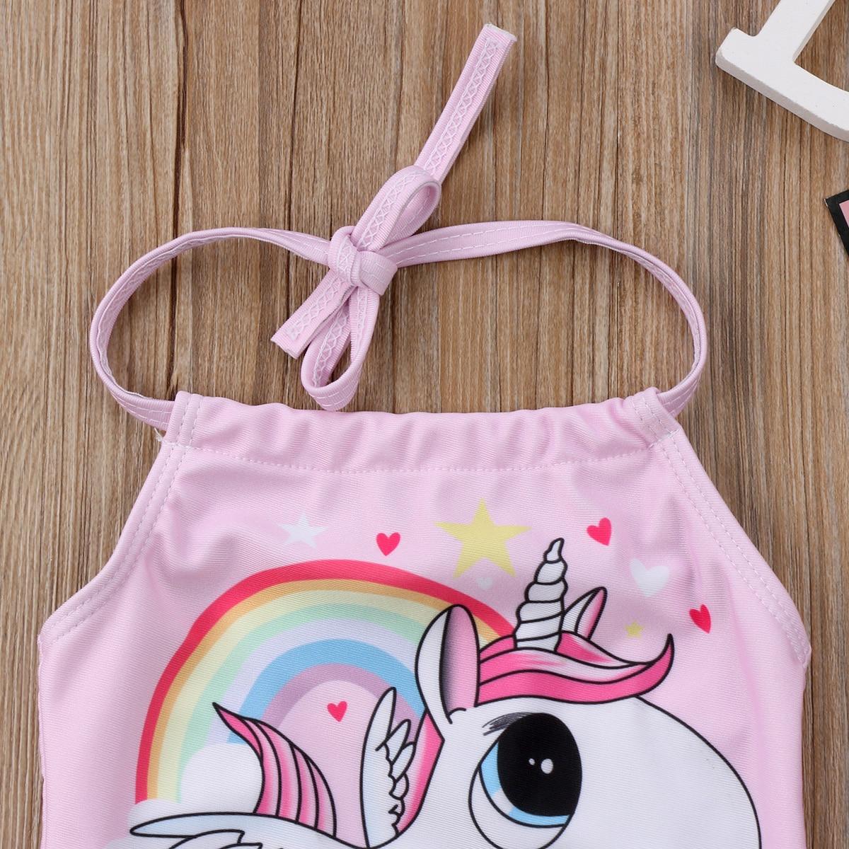 Kid Baby Girls Unicorn Bikini Swimwear Cute Summer Backless bathing Suit Swimsuit Bathing Suit Beachwear One Piece
