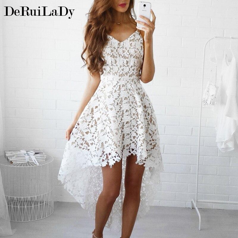 Deruilady summer fashion women sexy dress boho casual mini bodycon vestidos de l