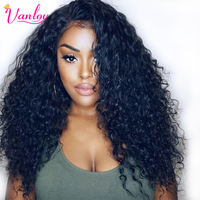 Vanlov Water Wave Lace Front Human Hair Wigs For Women With Baby Hair 150 Density Pre