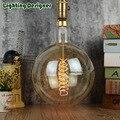 Tamanho grande G200 luz edison lâmpada incandescente do vintage decorativo lâmpada 40 W E26/E27 120 V 220 V 60 W antigo retro Edison lâmpada espiral