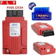 FLY FVDI J2534 أداة تشخيصية لمازدا دعم SAE J1850 وحدة البرمجة مع ELM327