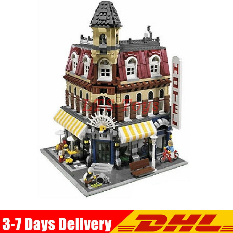 IN Stock DHL Lepin 15002 2133Pcs Cafe Corner Model Building Kits Blocks Kid Toy Gift Compatible with Legoings 10182 Educational new lepin 15002 2133pcs cafe corner model building kits blocks kid diy educational toy children day gift brinquedos 10182